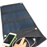 Wholesale! 10PCS/Lot 21W Sunpower Foldable Solar Charger Solar Panel Battery Charger For 5V Devices Dual USB Wide Compatibility