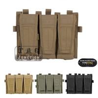 Emerson Tactical AVS Detachable Flap M4 M16 AR15 5.56 .223 Triple Magazine Pouch Emersongear Mag Holder Ammo Bag Hook & Loop