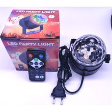 3W Led Disco E27 Light Stage Lights Ball Sound Activated Laser Projector effect Lamp Light for home Christmas party decoration(China)