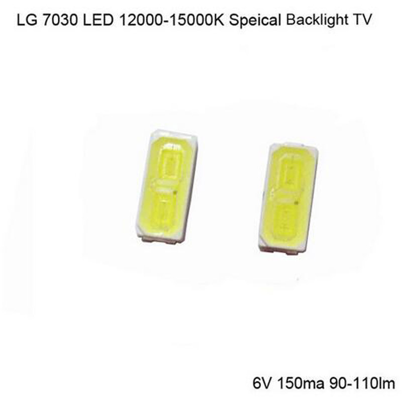 100pcs 110lm 1w 7030 Cool White smd <font><b>leds</b></font>(lights <font><b>led</b></font>) 6V 150mA 15000-<font><b>30000K</b></font> Super Bright <font><b>Led</b></font> Chips---free shipping image
