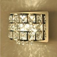 New Modern K9 Crystal LED Wall Lamp Bathroom Night Lighting Aisle Mirror Light Y 011