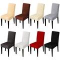 Color sólido elástico cubierta de la silla de tela de Spandex silla de asiento cubre Hotel Fiesta banquete fundas decoración del hogar evento
