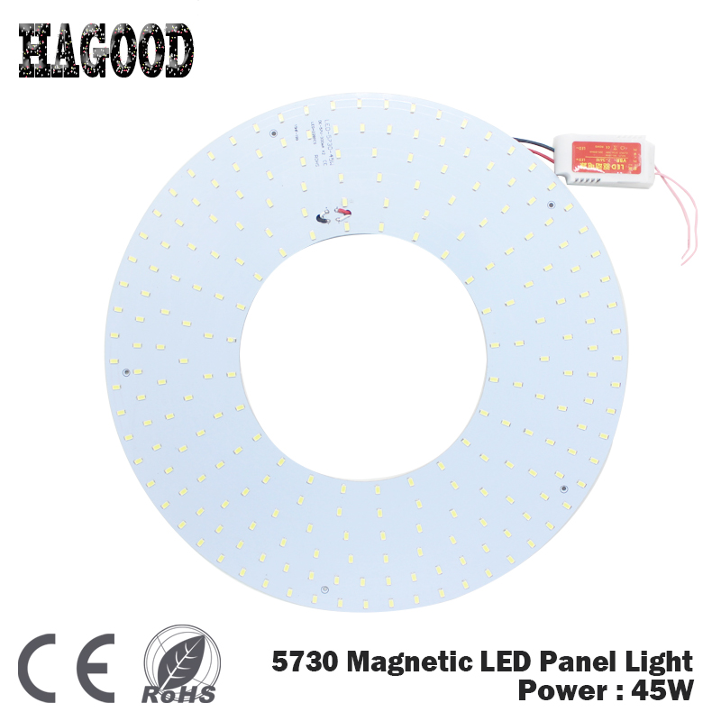 Free Shipping 180-265V 45W SMD 5730 Led Ceiling Panel Light/Led Circular Ceiling Lighting Lamp Board Chandelier free shipping wooden surface or sling mounting 100 240vac 4000k led panel light ceiling light wholesales