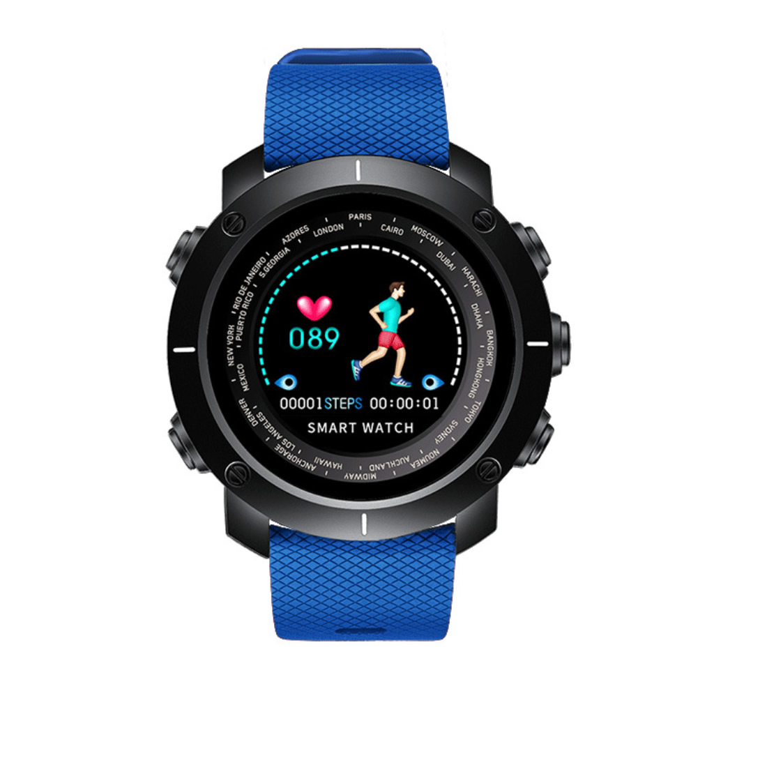 Skmei Blue Men Sport Wrist Watch Smart Intelligent Digital Watches Luxury Outdoor Clock Man Black Silicone Relogios Masculinos black and red smart bracelet watch men women outdoor sport wristwatch silicone rectangle hot sale cool watches intelligent clock