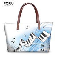 FORUDESIGNS Musical Note Large Handbags Vintage Messenger Bag Bolsa Feminina for Women Beach Travel Crossbody Bag Female Handbag