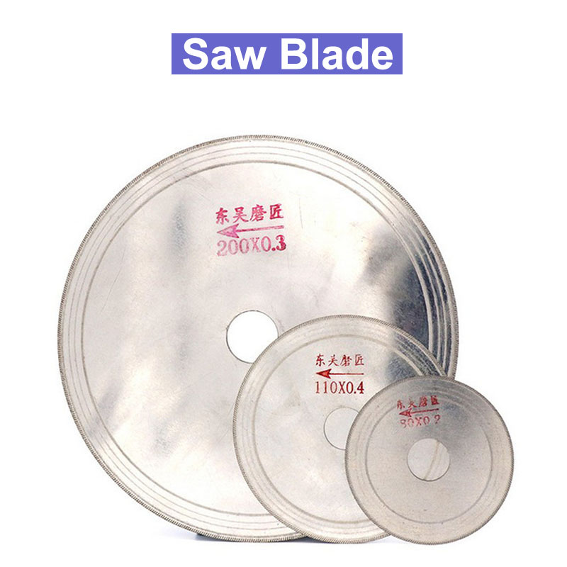 3/4/5/6/8 Inch Ultra-thin Diamond Saw Blade Cutting Arbor Disc Stone Agate Cut Jade Cutting Disc 80-200
