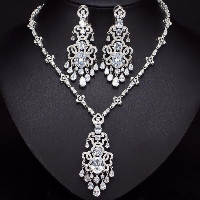 Meilleure vente de luxe bleu poire 925 en argent sterling dubai mariage pour les femmes dame anniversaire cadeau bijoux en gros J5207