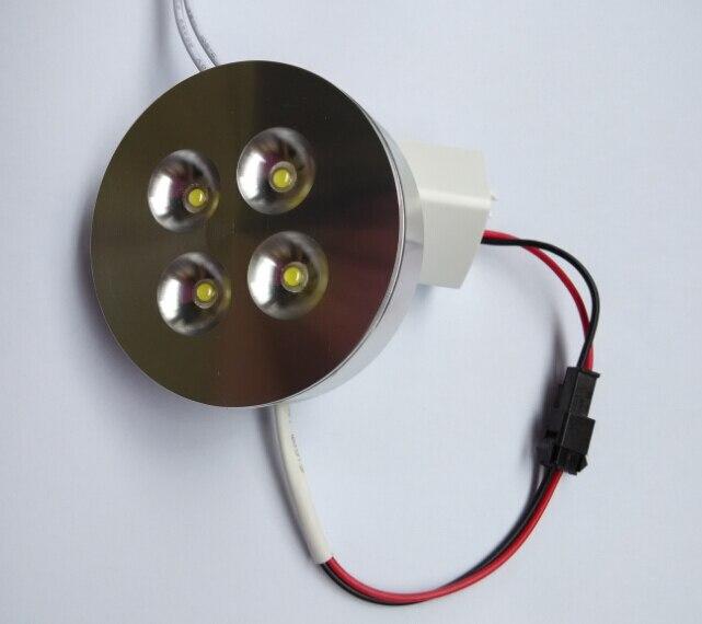 Бесплатная доставка 4x2 Вт Теплый Холодный белый светодиодный свет puck/LED/светодиодный встраиваемый светильник AC85-265V