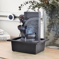 Resin Decorative Fountains Indoor Water Fountains Creative Craft Desktop Home Decor Home Figurines FengShui Water Fountain G