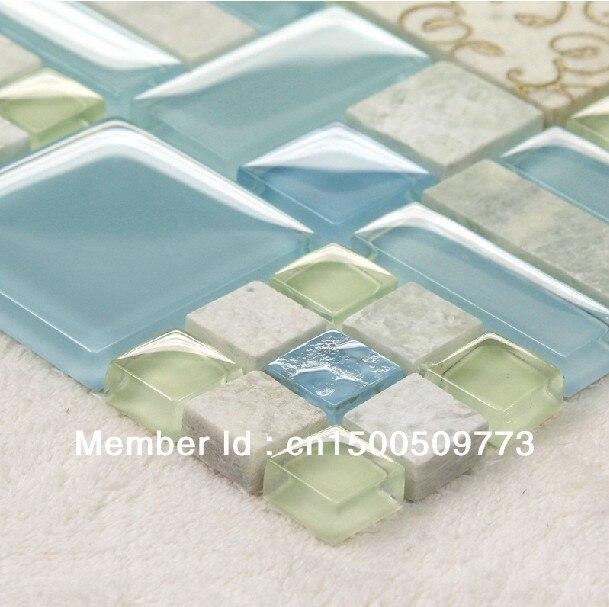 Glass Mosaic Wall Tiles Kitchen