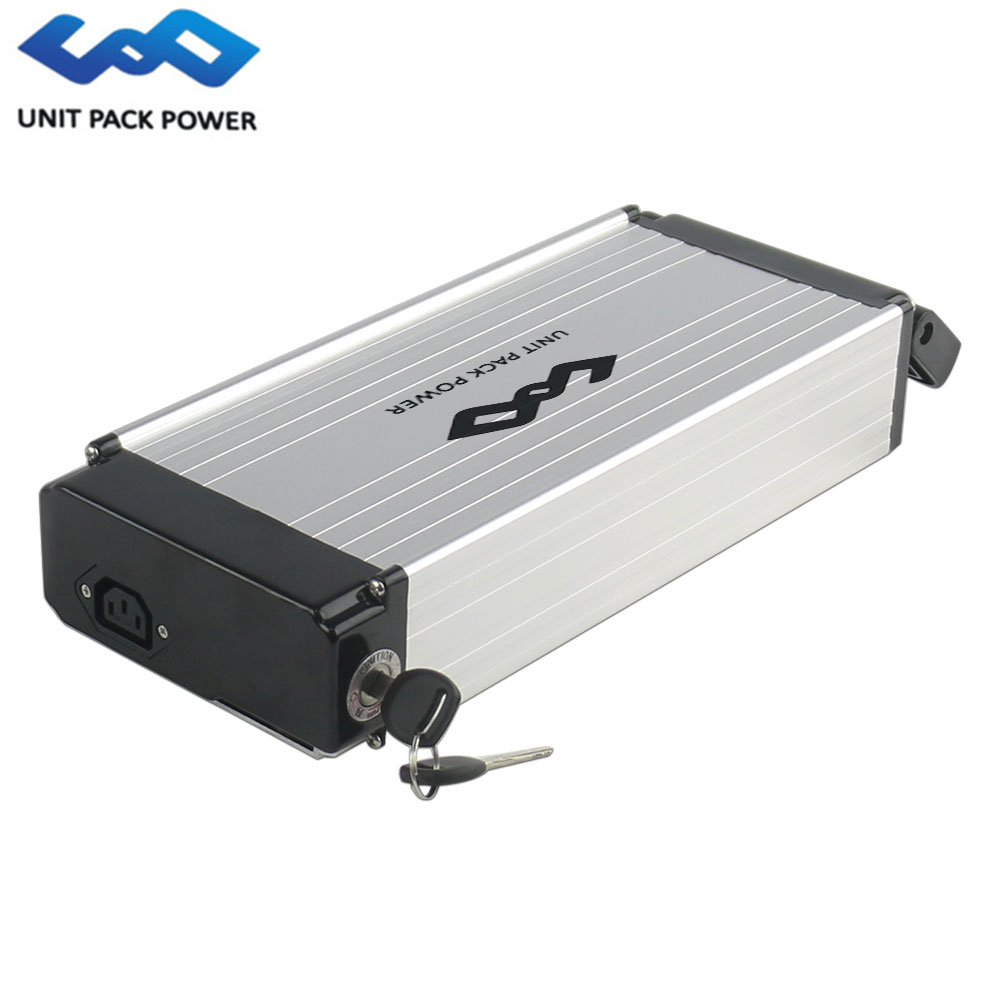 UPP Electric Bicycles 36V 10Ah Rear Rack Battery Lithium ion Ebike Battery 36V with Aluminum Case for BAFANG MotorsUPP Electric Bicycles 36V 10Ah Rear Rack Battery Lithium ion Ebike Battery 36V with Aluminum Case for BAFANG Motors
