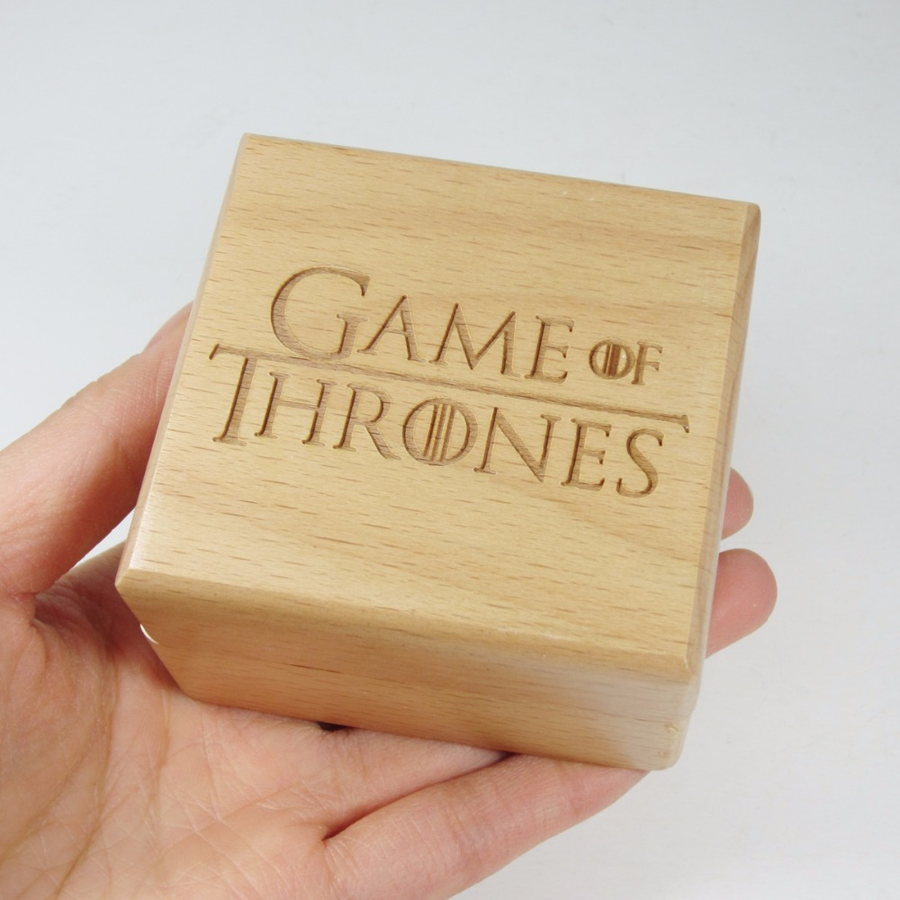 Handmade Wooden game of thrones music box special souvenir gift box, birthday gifts free shipping