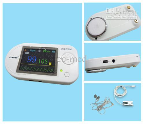 Wholesale - CMS-VESD New Visual Electronic Stethoscope with ECG, PR ,VET SpO2 ,PC software and review data!+ Adult Probe best price multi function digital visual electronic stethoscope spo2 pulse oxygen saturation with ce approved cms m