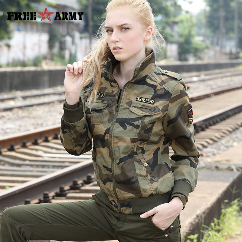 Autumn Military Jackets Women 2018 New Arrival Female Camouflage Jacket Fall Thick Jackets For Womens Coat