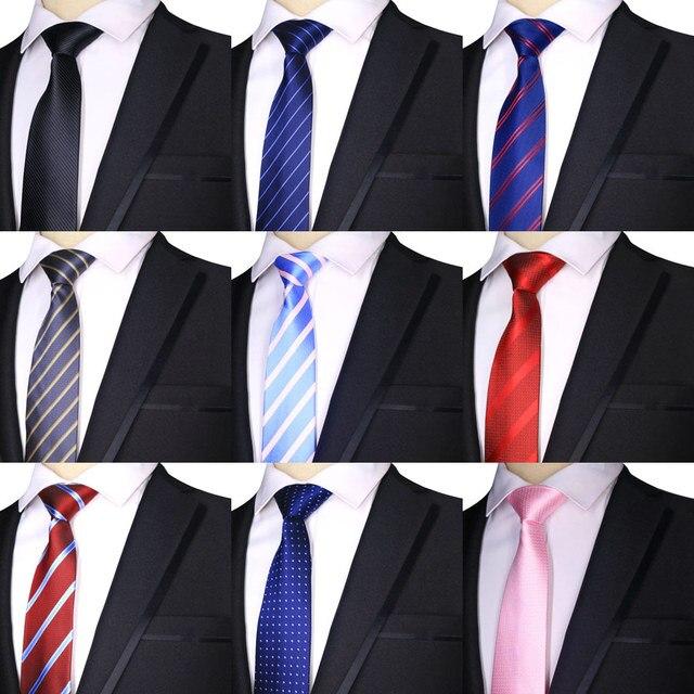 2ea2bbed847d 2019 Factory 7CM Mens Ties Polyester Silk Stripes Dark / Bright Blue Formal  Bridegroom Wedding Business