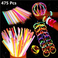 UNOMOR Multi Color Fluorescent Lightstick Light Night Float Rod Lights Dark Glow Stick For Festival Party Supplies