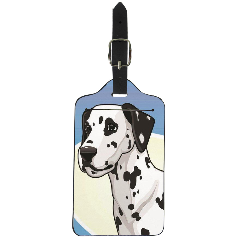 Dalmatian Lovers Travel Luggage Tag Protective Bags for Travel Suitcase Cover for Name Address Holder