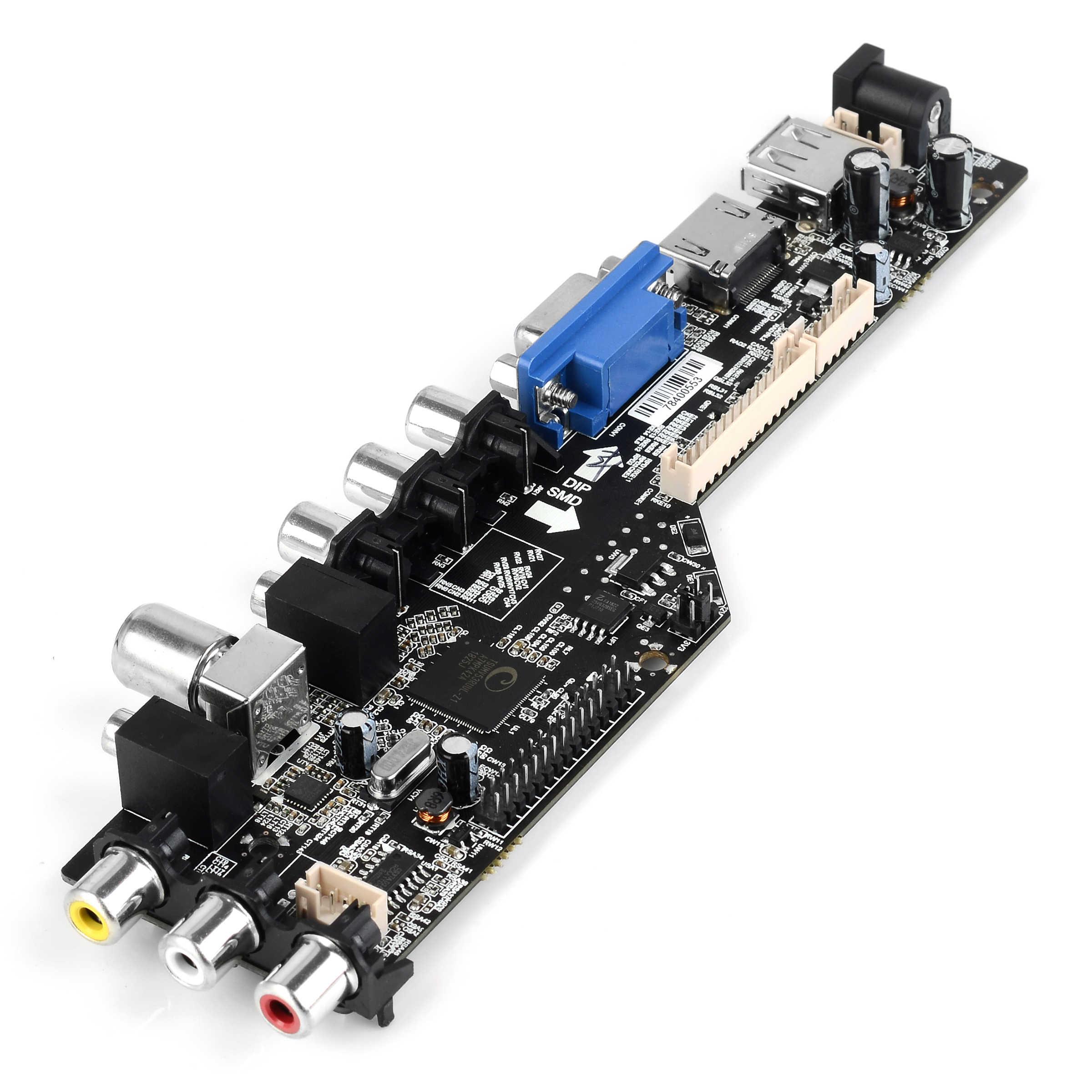 DD3663LUA. A82 15-32 بوصة الرقمية dvb-t/C/T2 العالمي التلفزيون lcd لوحة تحكم التلفزيون/VGA/AV/HDMI/USB ل lvds 1/2ch 6/8 بت lvdsquel