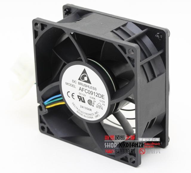 Afc0912de 9038 9 cm 9 cm 3.0A grande ventilador de refrigeração do ventilador violento