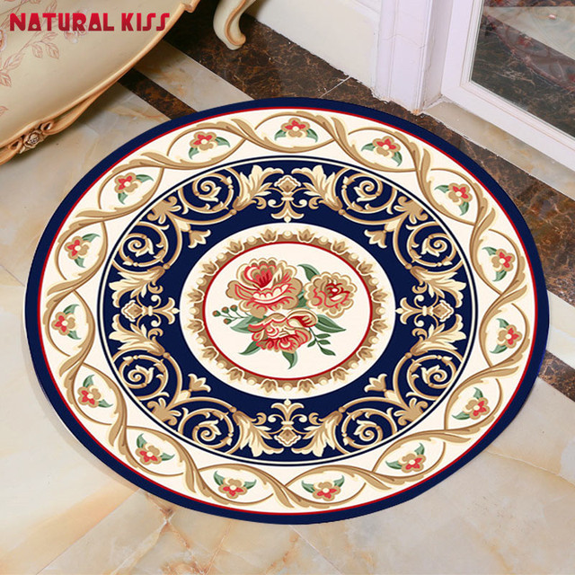 Good 2017 High Quality Chinese Nation Style Round Bathroom Rugs Kid Living Room  Doormat Chair Mats Door