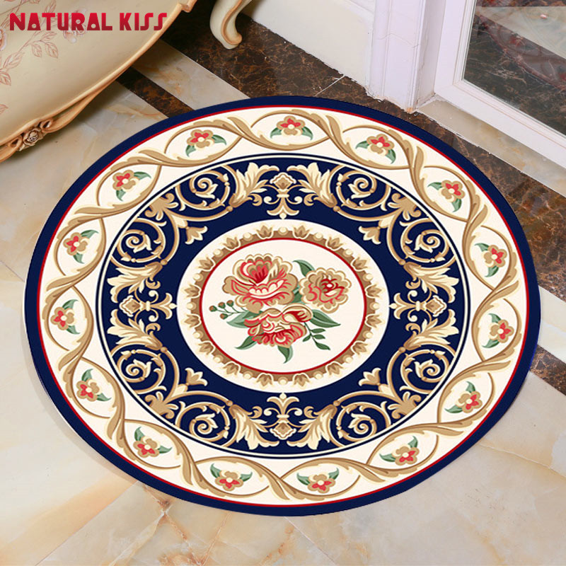 high quality chinese nation style round bathroom rugs kid living room doormat chair mats door