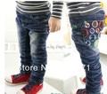 Outono e bebê winnter jeans número calças jeans para crianças