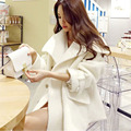 2016 new fashion winter Korean wool blouse in the long section of a loose thick woolen coat