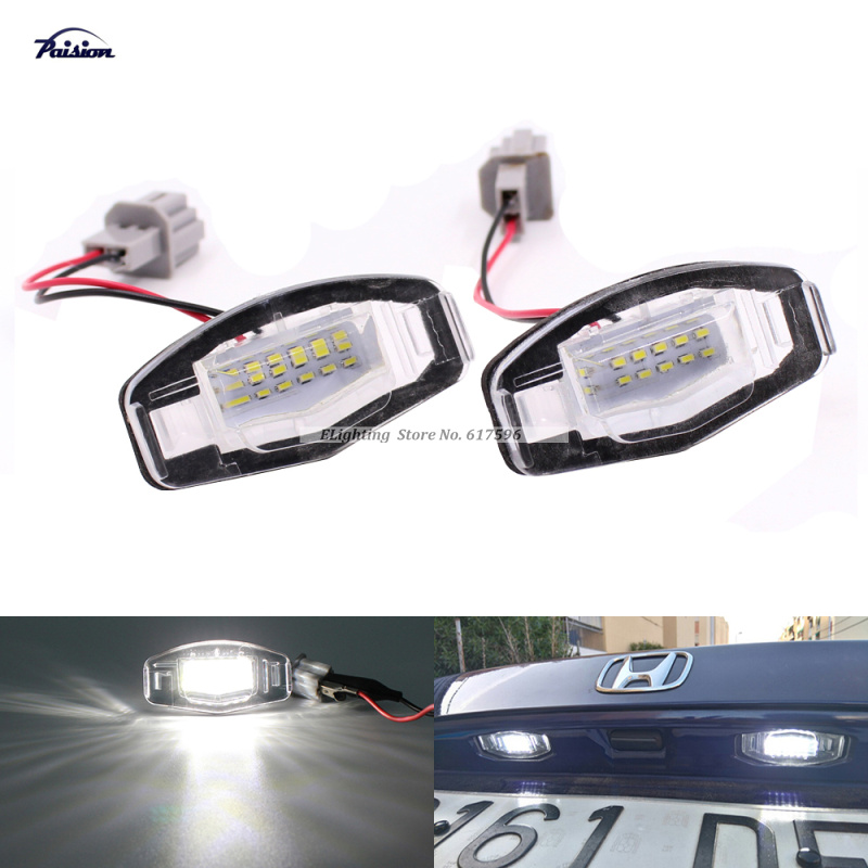 2Pcs No Error White 18SMD LED Number License Plate Light