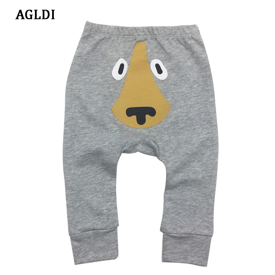 2018 Boys Girls Baby Pants Unisex Kids Harem PP Trousers Knitted Cotton Boys Girls Toddler Leggings Newborn Infant Clothing