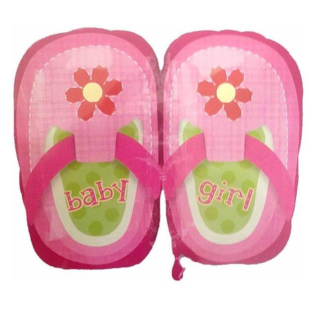 18 ducha fiesta de la pulgadas bonita Rosa Zapatos Globos bebé niña hoja nuevo de anagrama OPXikZu