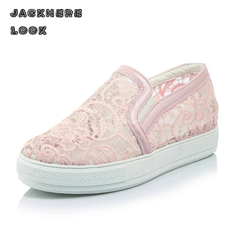 Spring and Summer Lace Shoes Sweet Princess Cute Flat  Women's Casual Women Shoe Mesh Hollow Female Zapatos 03 summer women shoes casual cutouts lace canvas shoes hollow floral breathable platform flat shoe sapato feminino lace sandals