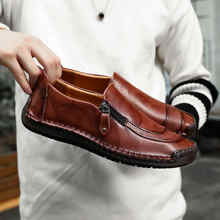 Купить с кэшбэком 2018 Big Size 38-48 Brand Genuine Leather Men Shoes Fashion Casual Shoes Breathable Men Flats Loafers Men's Driving Shoes