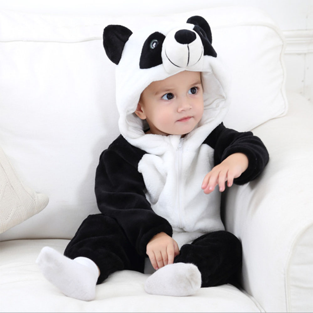 Baby rompers winter newborn baby pajamas for boys girls jumpsuit panda newborn baby Boy Girl