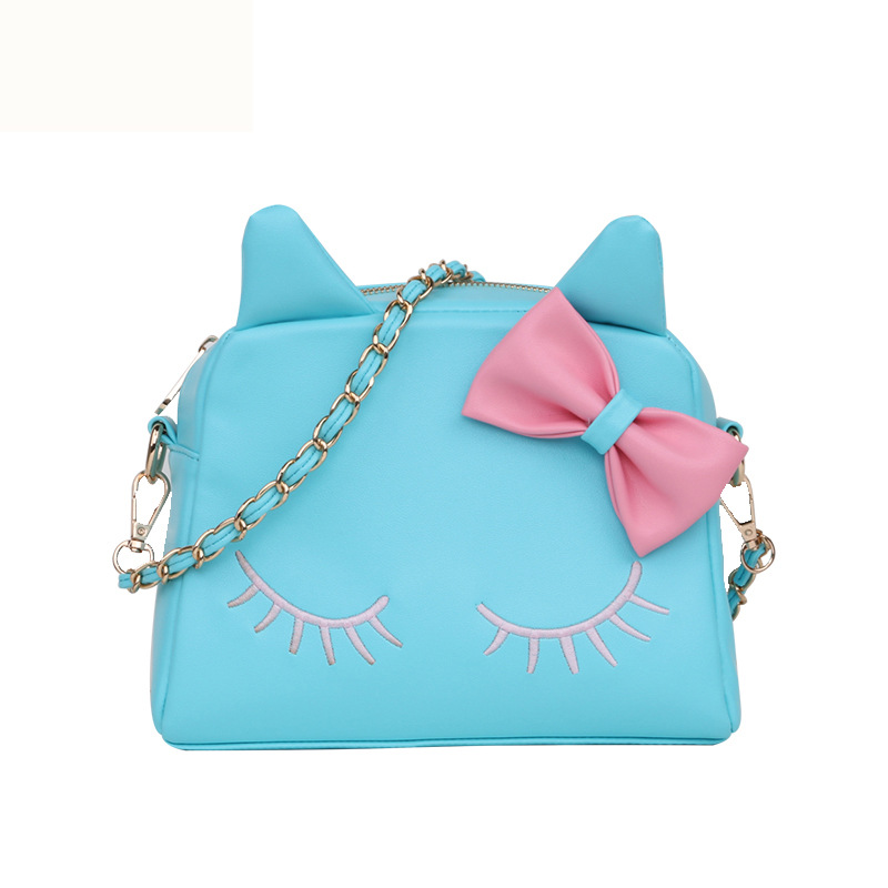 Handtasche 50 Pu Mädchen Teile Kleine Mode Nette Katze Schüchtern Ohr leder los Umhängetasche Orecchiette Bogen 8U8rwqvt