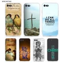 Transparent Soft Silicone Phone Case Bible verse Philippians for iPhone XS X XR Max 8 7 6 6S Plus 5 5S SE