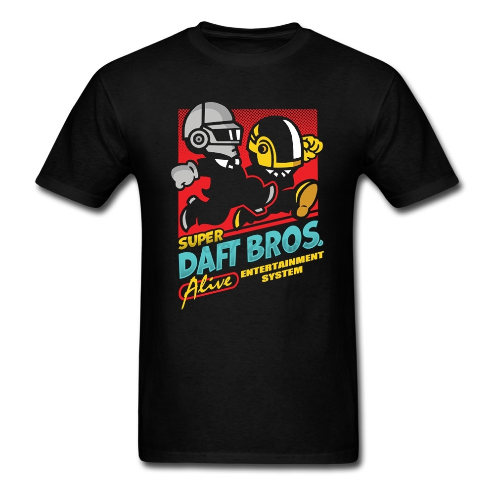 Super Daft Bros T Shirts graphics punk rock Costumes for Men Short Sleeve Human after all Men mujer tshirt Natural Cotton