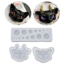 1 SetCartoon Evil Cat Eye Silicone Resin Molds Kit Epoxy Casting Jewelry Tools