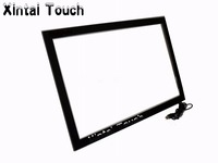 82 10 Points IR Multi Touch Screen Overlay Kit With Fast Shipping USB Port Plug And