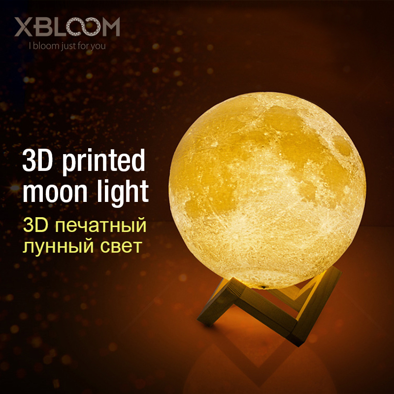 3D Print Moon Light Earth Space Aerospace Alien Decoration LED Night Smart Home Table Lamp Wedding Birthday Gift