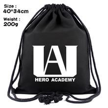 IVYYE Hero Academia Style Fashion Canvas Backpacks Cartoon Drawstring Backpack Casual String Bags shopping Knapsack Unisex