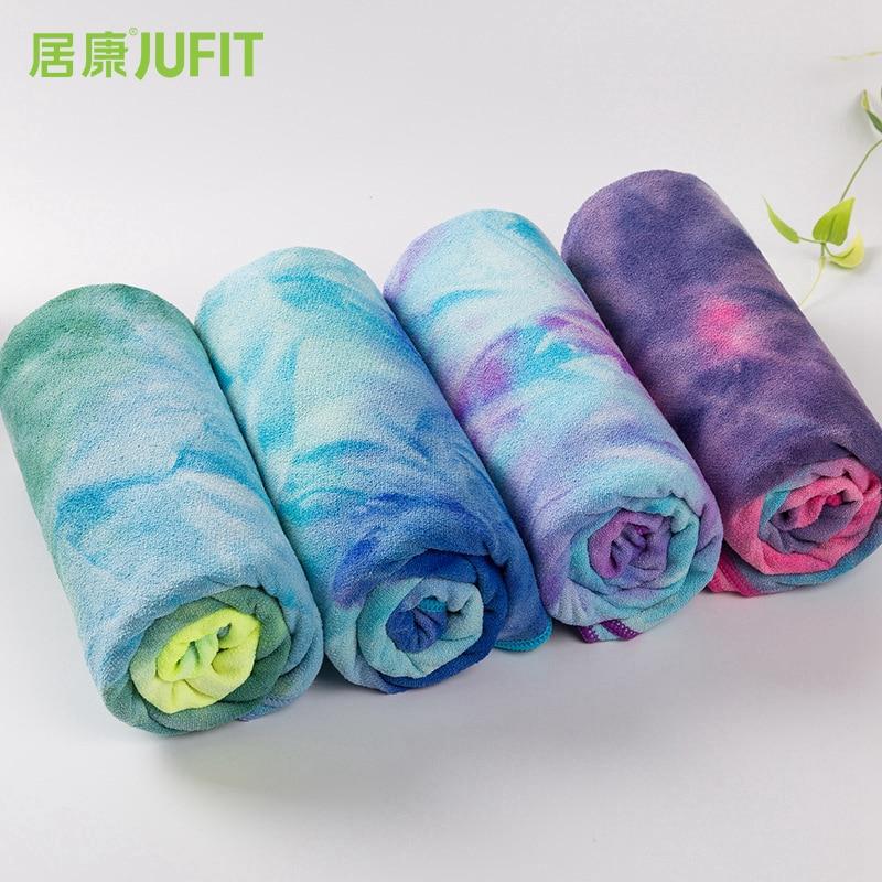 JUFIT 183 * 61cm Non Slip Yoga Mat Cover Towel Anti Skid Blanket Sport Fitness Exercise Pilates Workout Yoga Mat non slip full toe socks for yoga workout fitness