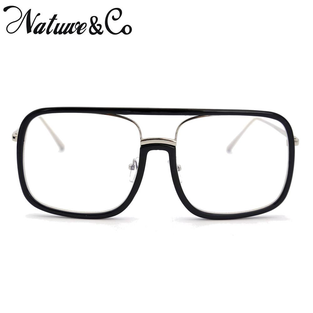 926790ba262 Natuwe Co Large Oversize Square Glasses Frame Retro Full-rim Men Women  Eyeglasses