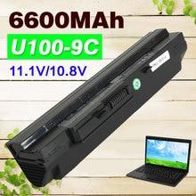 9 cell 6600mAh Black Laptop Battery for MSi U100 U90 U200 U210 U230 BTY-S11 BTY-