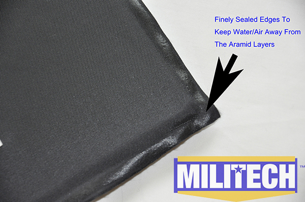 Ballistic Panel BulletProof Plate NIJ Level IIIA 3A 10'' x 12'' Shooters Cut Pair Insert Body Armor Aramid Soft Armour--MILITECH