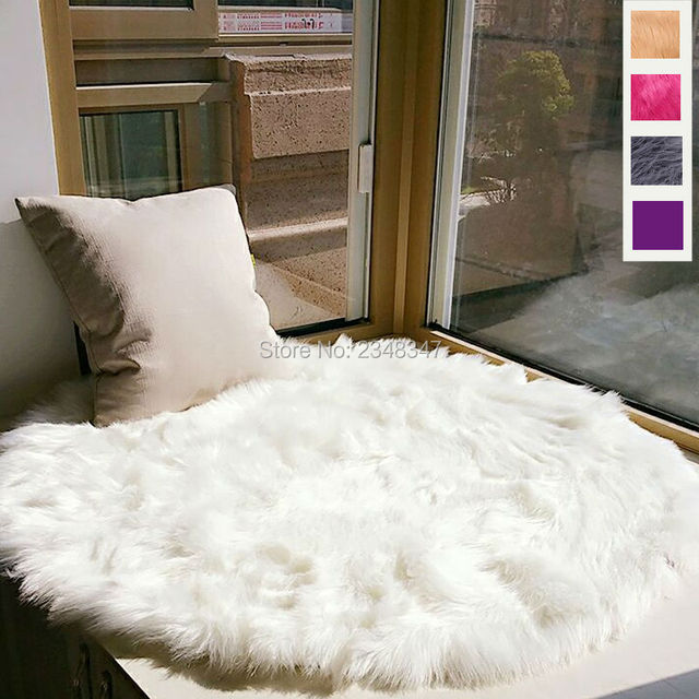 Lange Faux Fur Knstliche Schaffell Flauschigen Stuhl Sitz Sofa Abdeckung  Rund Teppich Mat Bereich Teppich Wohnzimmer