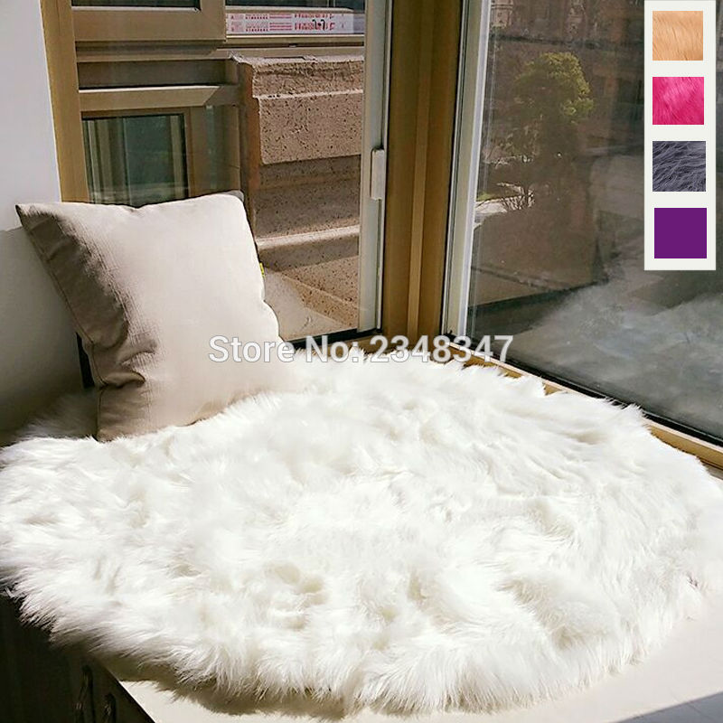 Chair And A Half Cover White Leather Swivel Office Long Faux Fur Artificial Sheepskin Fluffy Seat Sofa Round Carpet Mat Area Rug Living ...