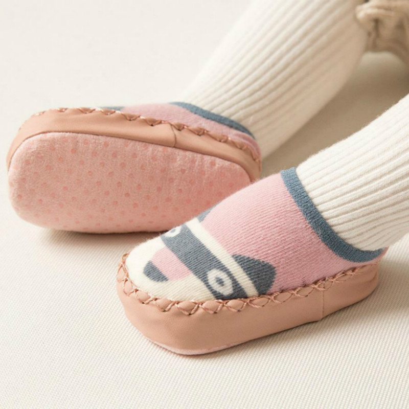 0 3 Years Baby Floor Shoes Newborn Babe Winter and Autumn Anti slip Socks Children Floor Socks Baby Boy Toddler Girls Kids Shoes in Socks from Mother Kids