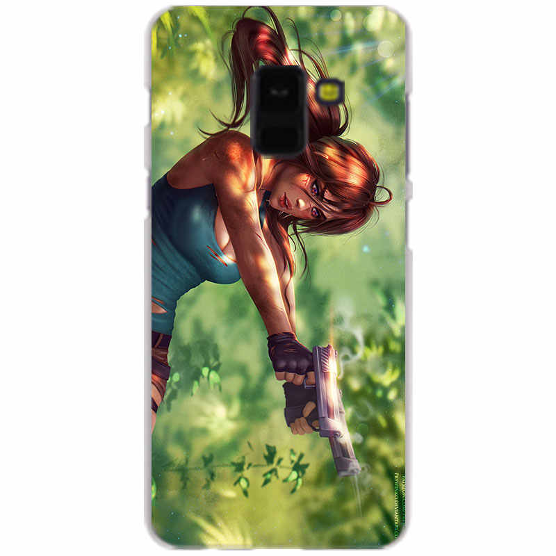 Tomb Raider Прозрачный чехол для Samsung Galaxy A3 A5 A9 A7 A6 A8 плюс 2018 2017 2016 Star A6S крышка