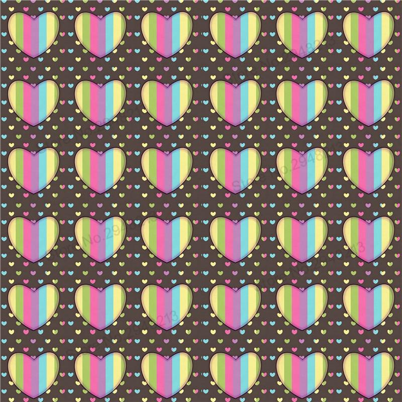 10 шт./лот Печатных Сердце Кожезаменитель ткань Vinly для День Святого Валентина волос лук сумки 20*34 см PPUL23