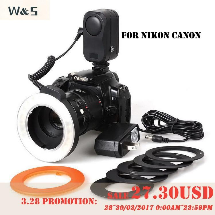 WANSEN WSLED48 makro valgustus 48 LED-videorõnga välklamp Nikon - Kaamera ja foto - Foto 1